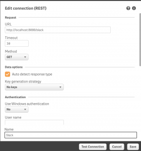 Connection to Slack proxy